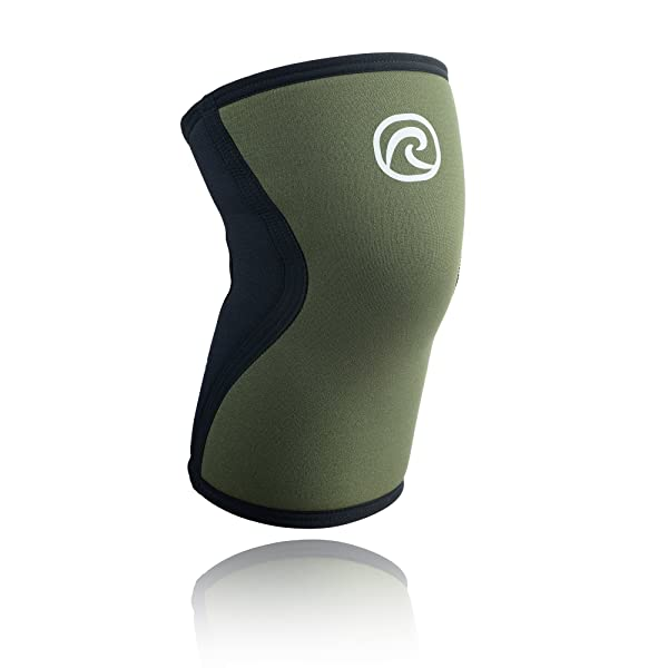 Rehband Rx Knee Support 7751 5mm - Medium - Green - Expand Your Movement + Cross Training Potential - Knee Sleeve for Fitness - Feel Stronger + More Secure - Relieve Strain - 1 Sleeve (Color: Green, Tamaño: Medium)