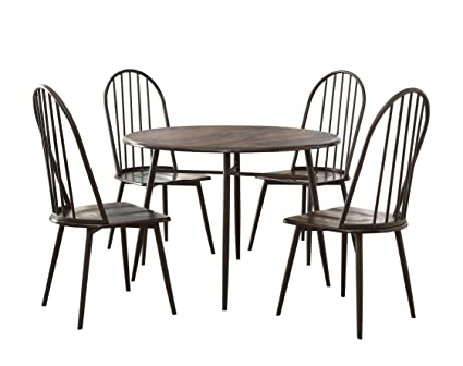Furniture of America Belleville 5-Piece Dining Table and Chairs Set