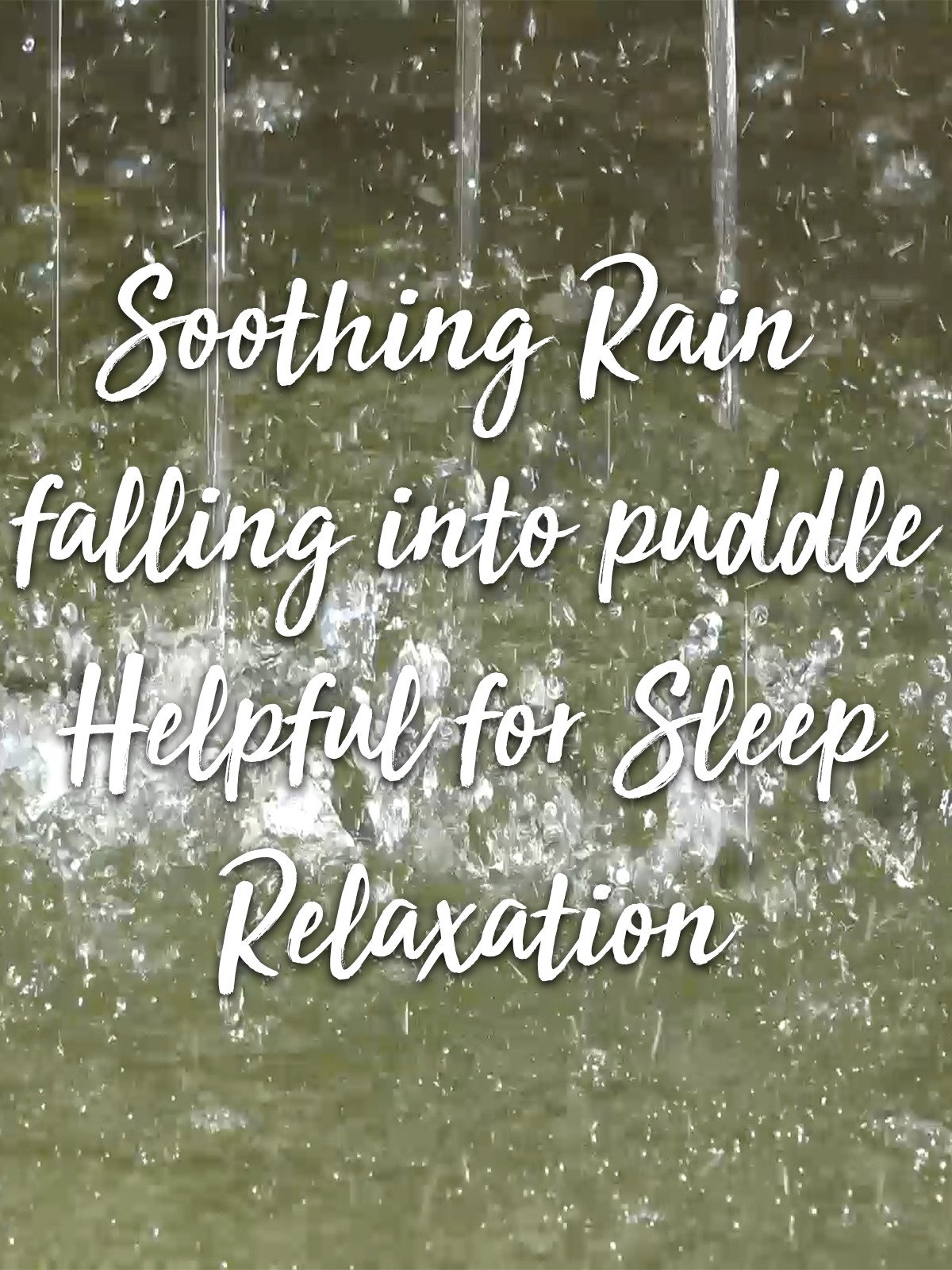 Soothing Rain falling into puddle Helpful for Sleep Relaxation