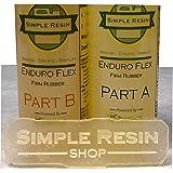 Enduro Flex - Durable, Rubber Casting Resin - Firm Rubber Feel (1 lb kit (16 oz kit)) (Tamaño: 1 lb kit (16 oz kit))