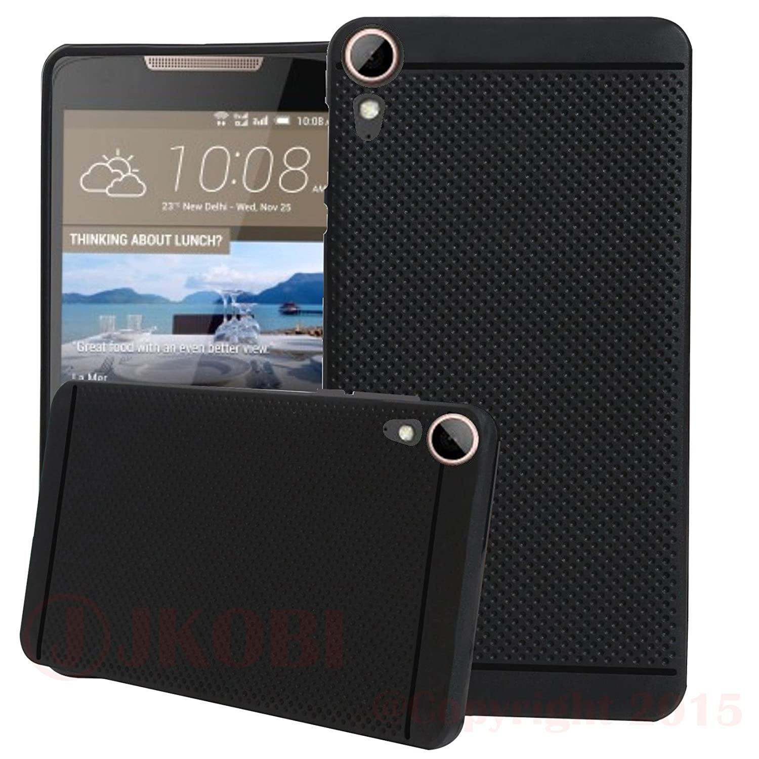 Jkobi Classic Dotted Designed Soft Rubberised Back Case Cover For Htc  Desire 828 Dual Sim