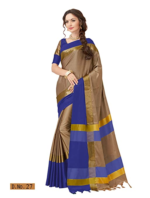 6fb2f3027a5b0 Taanshi Women Soft Silk Saree With Blouse Pcs available at Amazon for  Rs.1399
