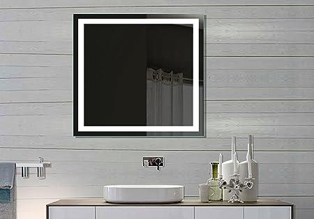 Illuminated LED bathroom Mirror Harmony 32 X 32 In