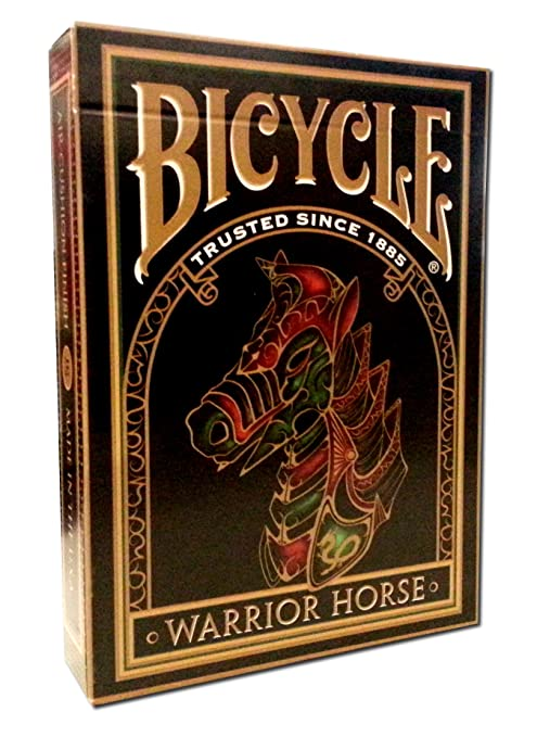 Top Deck Cards: Bicycle Warrior Horse Deck features