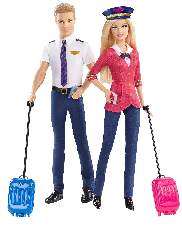 Pilots Barbie and Ken