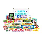 Woodstock Candy 1970 48th Birthday Gift Box - Nostalgic Retro Candy Mix from Childhood or 48 Year Old Man or Woman Jr.