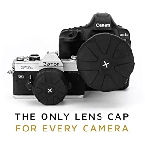 KUVRD Universal Lens Cap 2.0 - Fits 99% DSLR Lenses, Element Proof, Lifetime Coverage, Magnum, 4-Pack (Tamaño: 4-Pack)