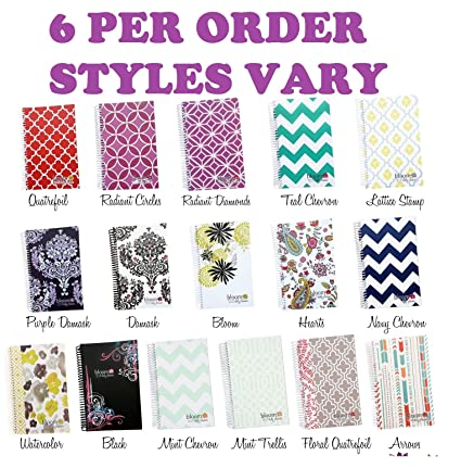 2014-15 Academic Year Daily Planner Six Pack - Styles May Vary