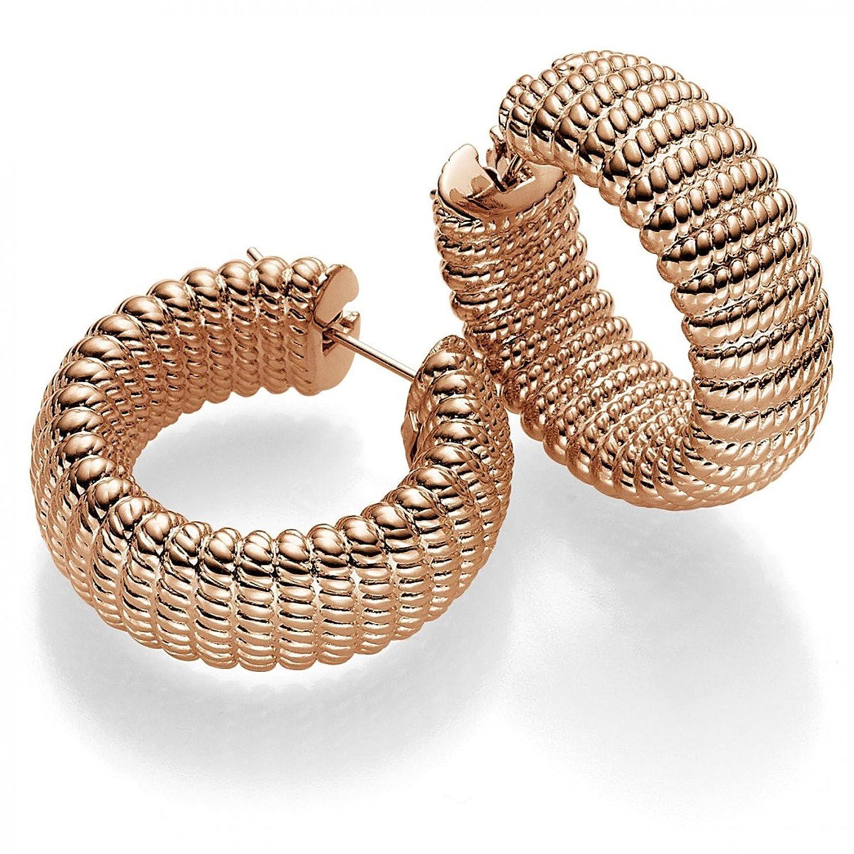 Paar Creolen 33,5×11,5mm Ohrringe Ohrschmuck 585 Gold Rotgold, Damen günstig bestellen
