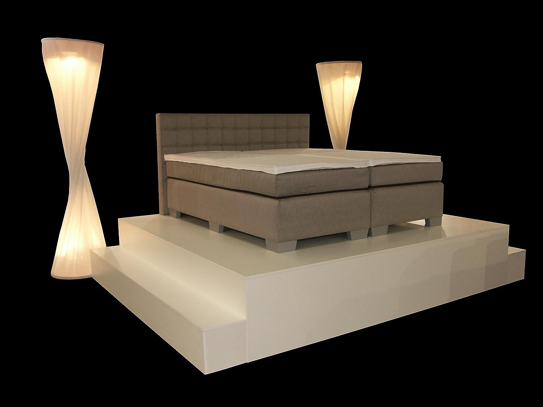 BOXSPRINGBETT 34 / 32 STOFFE WÄHLBAR / GRÖßE 180x200cm / TONNENTASCHENFEDERKERN online bestellen