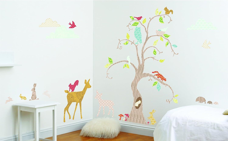 Woodland Tree Wandsticker für Kinder- und Schlafzimmer, Dekoset mit Waldmotiv günstig kaufen