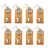 DerBlue 60 PCS Key Bottle Openers,Vintage Skeleton Key Bottle Opener,Skeleton Key Bottle Openers Wedding Favors Rustic Decoration with Escort Tag Card (Silver) (Color: Silver)