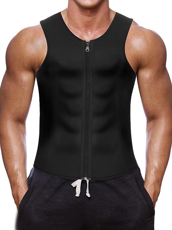 578973b0dd Men Waist Trainer Vest for Weightloss Hot Neoprene Corset Body Shaper  Zipper Sauna Tank Top Workout ...