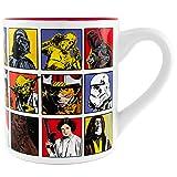 Silver Buffalo SW1732 Star Wars Episode 4 Character Grid Ceramic Mug, 14-Ounces (Color: Multicolor, Tamaño: 14-ounces)