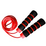 Limm Jump Rope Experience Levels, Cardio, Cross Fitness & More - Easily Adjustable - Best Exercise for Weight-Loss & Health - Start Enjoying The Comfort Today! (Color: Red)