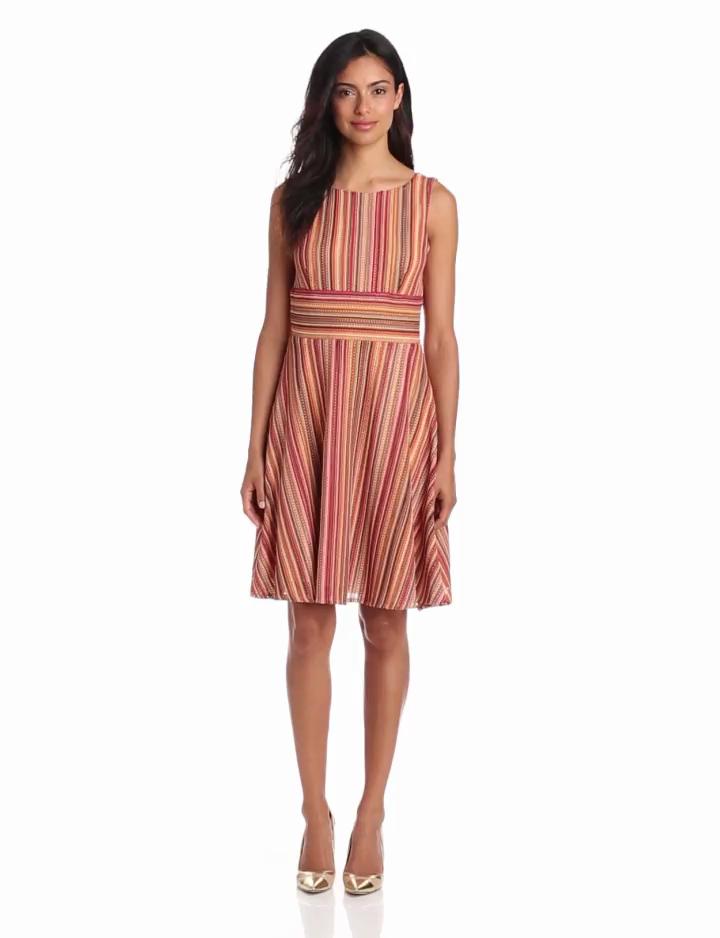 Gabby Skye Womens Sleeveless Empire Waist Dress