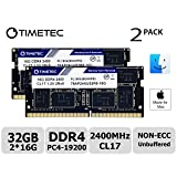 Timetec Hynix IC 32GB KIT(2x16GB) Compatible for Apple 2017 iMac 27-inch w/Retina 5K Display, 2017 iMac 21.5-inch w/Retina 4K or Non-Retina Display DDR4 2400MHz PC4-19200 CL17 SODIMM(32GB KIT(2x16GB)) (Tamaño: 32GB KIT (2x16GB))