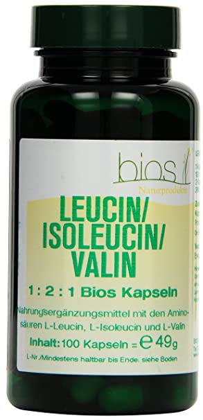 Bios Leucin/Isoleucin/Valin 1:2:1, 100 Kapseln, 1er Pack (1 x 49 g)