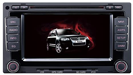 "mgnav mg d9200 V Autoradio de VW Toureg (15,7 cm (6,2 "") Système de navigation multimédia (DVD, BT, USB, SD, GPS)"