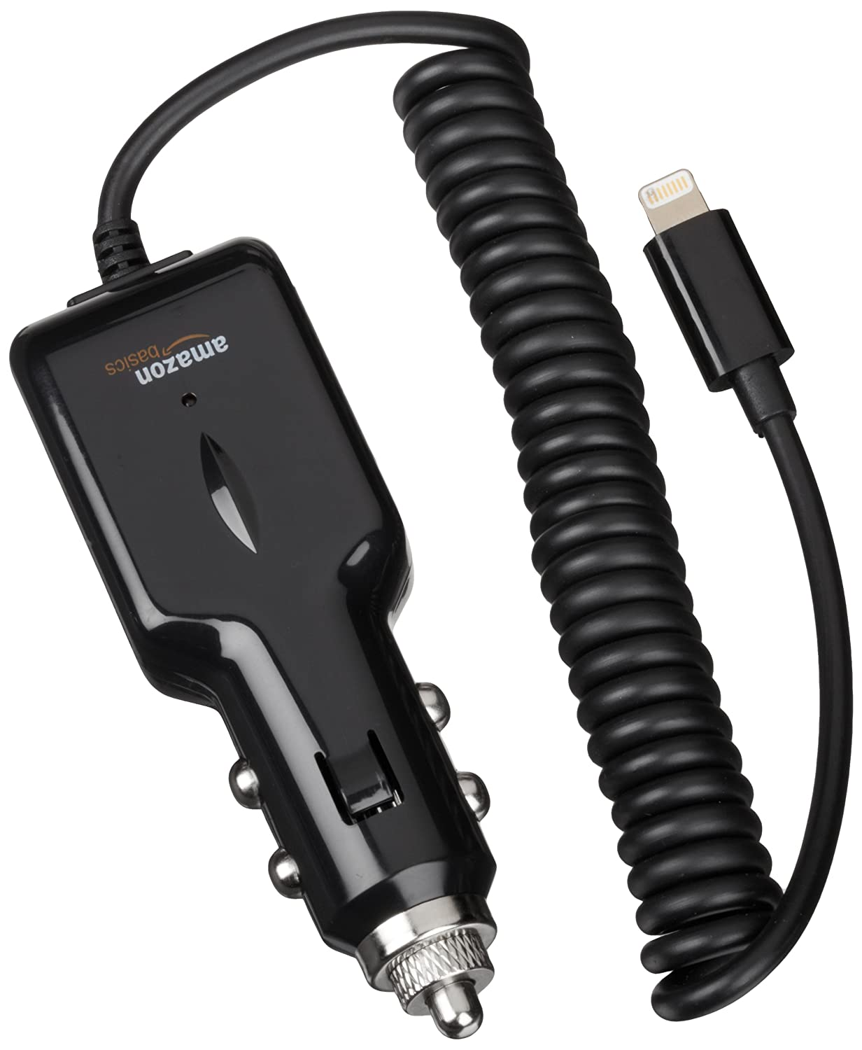 AmazonBasics Apple Certified Lightning Car Charger - Frustration Free Packaging - Black