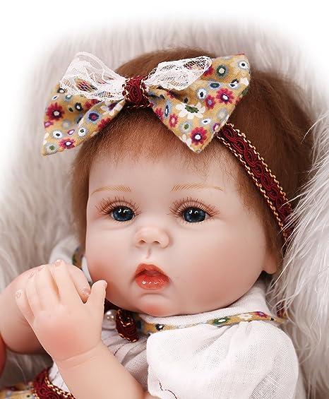 45,7cm Coque en silicone poupée Reborn faite à la main les pulls poupée réaliste de naissance bébé Jouets