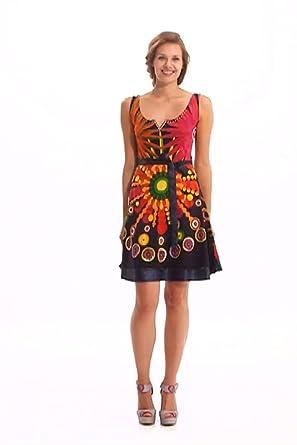 Desigual - railey - robe - été - femme - noir (negro) - xs