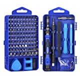 Computer Repair Kit, 122 in 1 Magnetic Laptop Screwdriver Kit, Precision Screwdriver Set, Small Impact Screw Driver Set with Case for Computer, Laptop, PC, for iPhone, iPad, Ps4 DIY Hand Tools -Blue (Color: 122IN1-Blue)