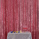 Fuchsia Pink 4FTx6FT PartyDelight Sequin Wedding Fabric Party Background Sparkly Wedding Decor (48