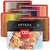 Arteza Professional Watercolor Pencils for Adults & Kids, Set of 120, Water-Soluble Colored Pencils for Coloring, Blending, Layering & Watercolor Techniques (Color: multicolored, Tamaño: 120 Colors)