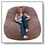 Cozy Sack 6-Feet Bean Bag Chair Large Earth