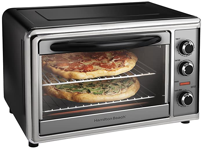 Hamilton Beach 31104 Countertop Oven with Convection and Rotisserie, Silver Via Amazon