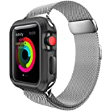 For Apple Watch Band 42mm Women Metal Strap for iWatch Bands Silver Color (Color: B-42mm silver)