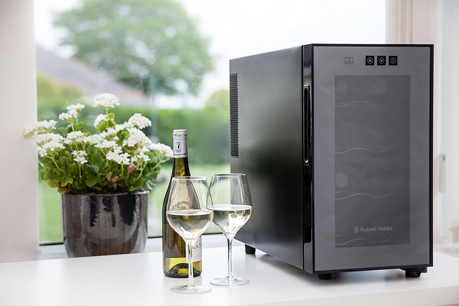 The Russell Hobbs RH8WC2 wine and beer cooler looks elegant and costs less than £100.