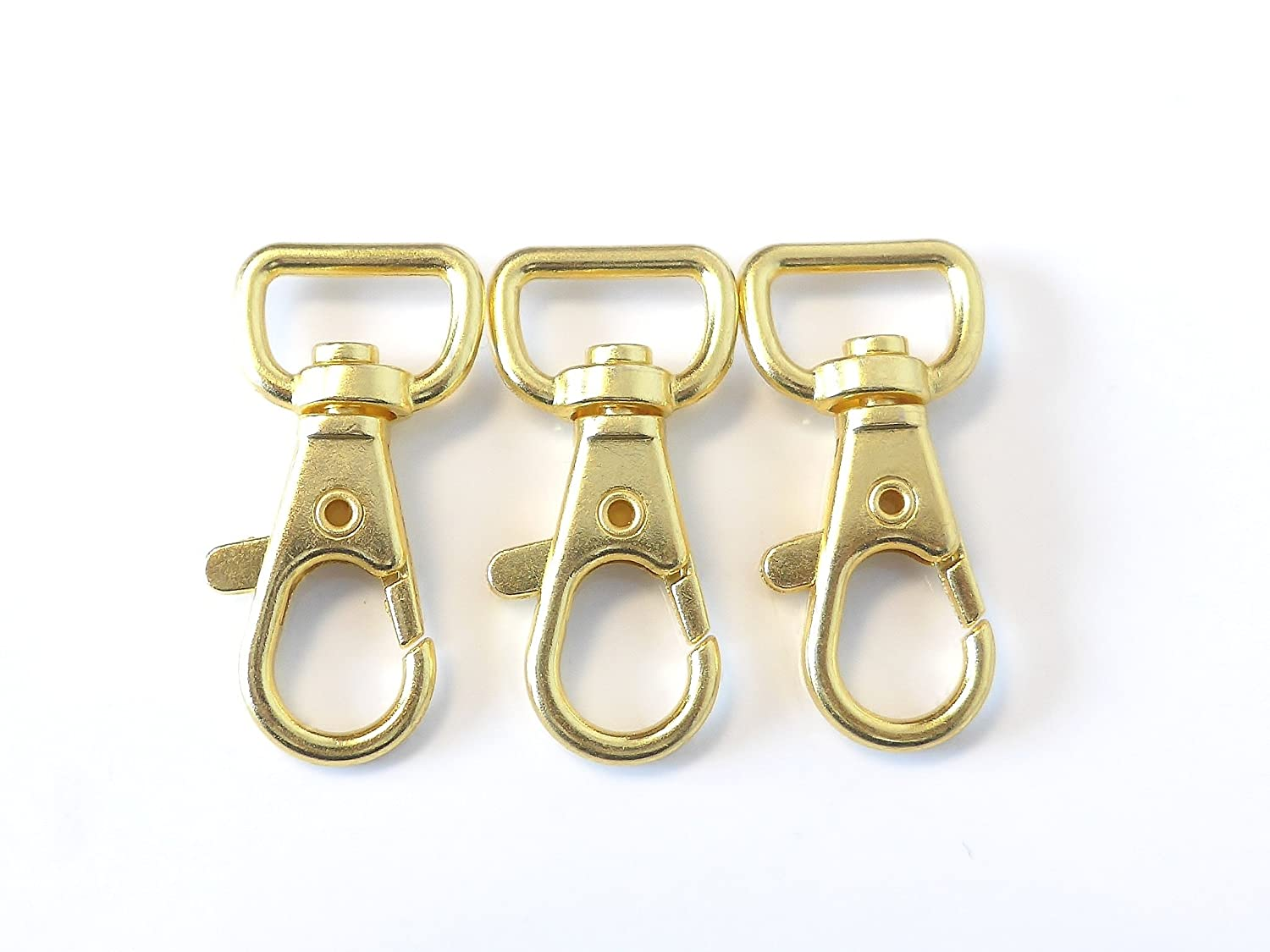 Gold Plated Swivel Clasps Lanyard Snap Hook Lobster Claw Clasp 1 1/2 x 3/4 inch Pack of 50