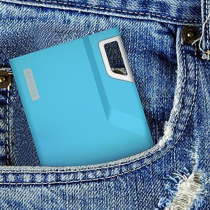 Aukey Mini Lock 小型 3000mAhモバイルバッテリー スマホ充電器 超軽薄型 マカロンカラー  タッチでウエイクLEDインジケーター付き Apple iPad Air/Mini/iPhone 6 Plus/iPhone 6/5S/5C/5/4S、Samsung Galaxy S5/S4/S3/Note 3/Note2、Google Nexus 4/5/7/10、One plus、Motorola Moto G X、 HTC One M8、LG G2/G3、Nokia Lumia 1520等softbank/docomo/auスマートフォン&タブレットを充電可能 G013 (ブルー)