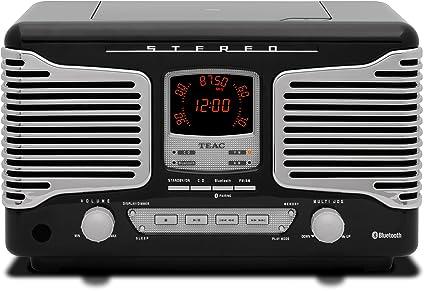 Teac SL-D800BT (R) Système stéréo pour CD et musique en streaming via Bluetooth Écran graphique Compatible MP3/WMA Tuner RDS noir