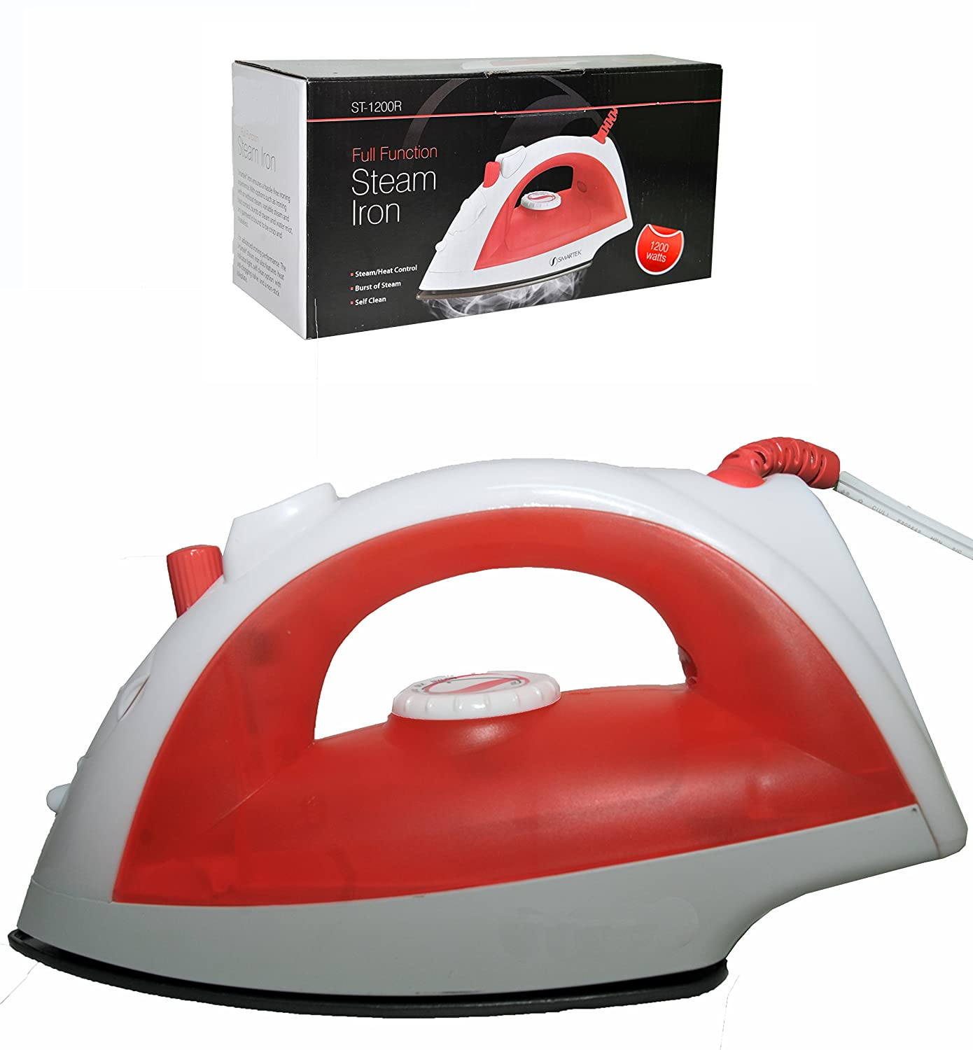 SmartCare 1200 Watt Self Cleaning Steam 8 Ft. Cord Iron Red
