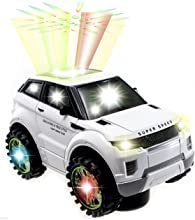 WolVol Beautiful 3D Lightning Electric SUV car Toy with Music goes around and changes directions on