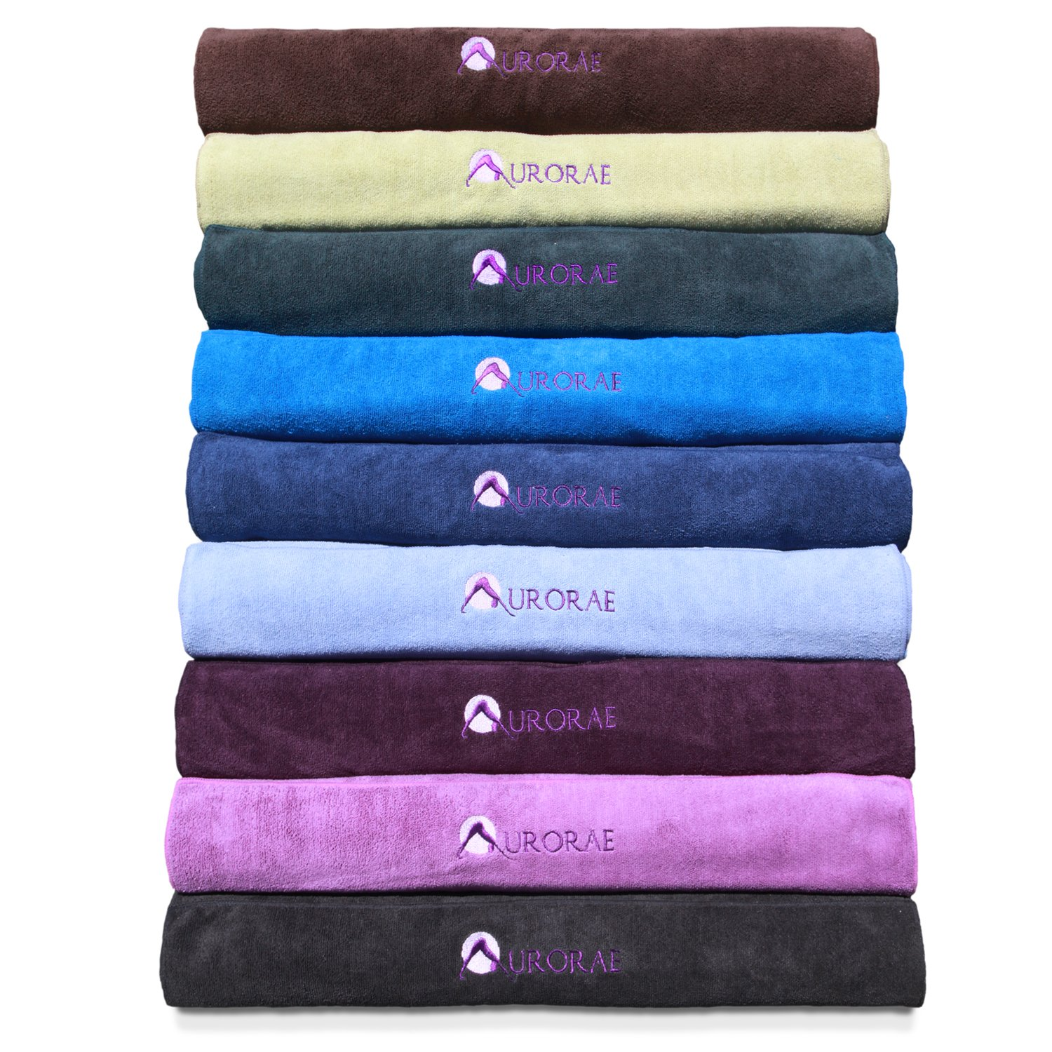 Aurorae's Slip Free Yoga Mat sized Towel. Great for Hot/Active Yoga. Eco Safe, Hygienic, Super Absorbent Multi-purpose Lush Micro-fiber material. Sport Size 30″ x 20″, Long Mat Size 72″x24″, 9 New Beautiful Colors that will Match/Coordinate with our Mats. 2 Year Full Guarantee