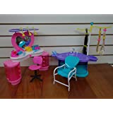 Barbie Size Dollhouse Furniture - New Beauty Salon Play Set