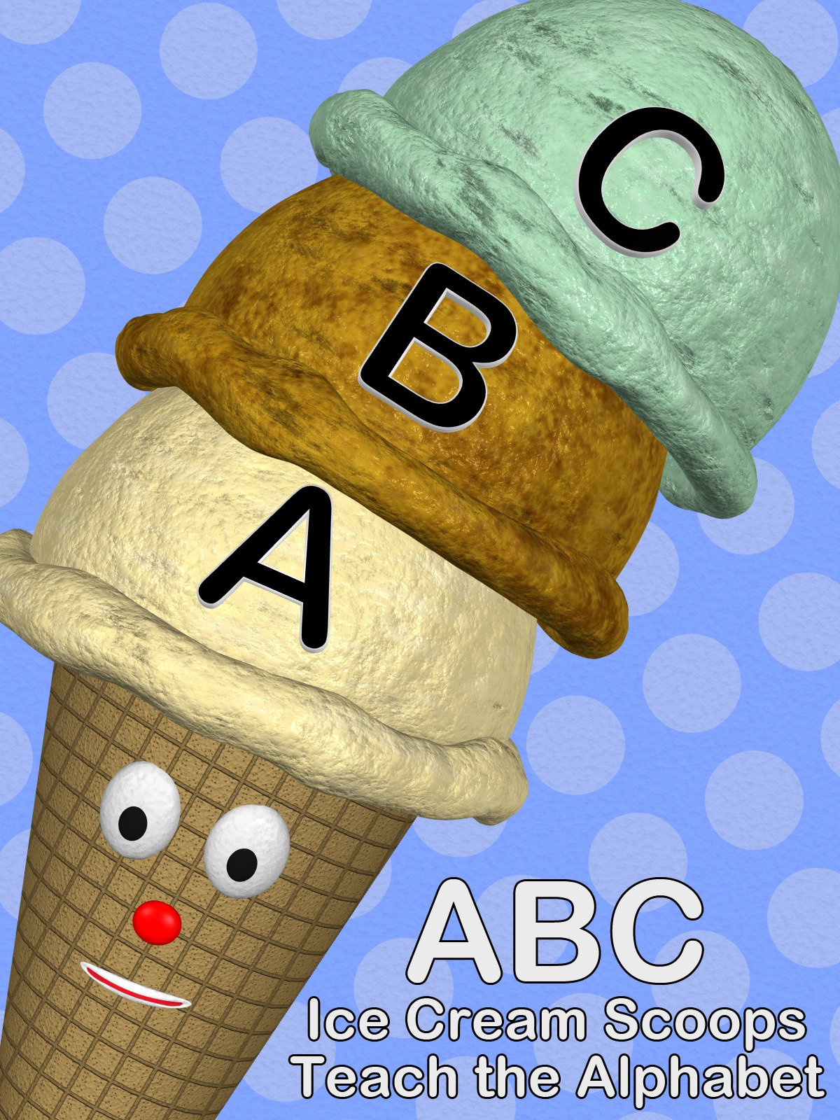 ABC Ice Cream Scoops Teach the Alphabet