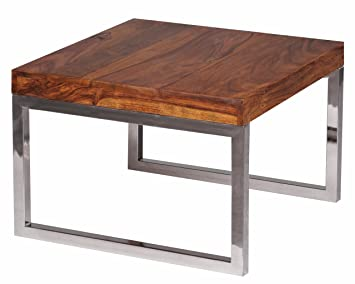 Wohnling WL1.309 Table basse en bois de sheesham massif 60 x 60 cm