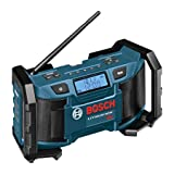 Bosch 18-Volt or 120V Compact AM/FM Radio with MP3 Player Connection Bay PB180 (Color: Blue)