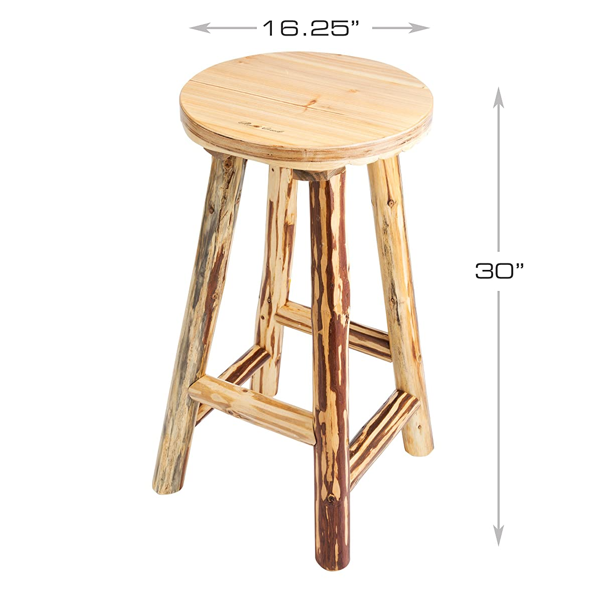 Rush Creek Creations Rustic Reloading Bar Stool