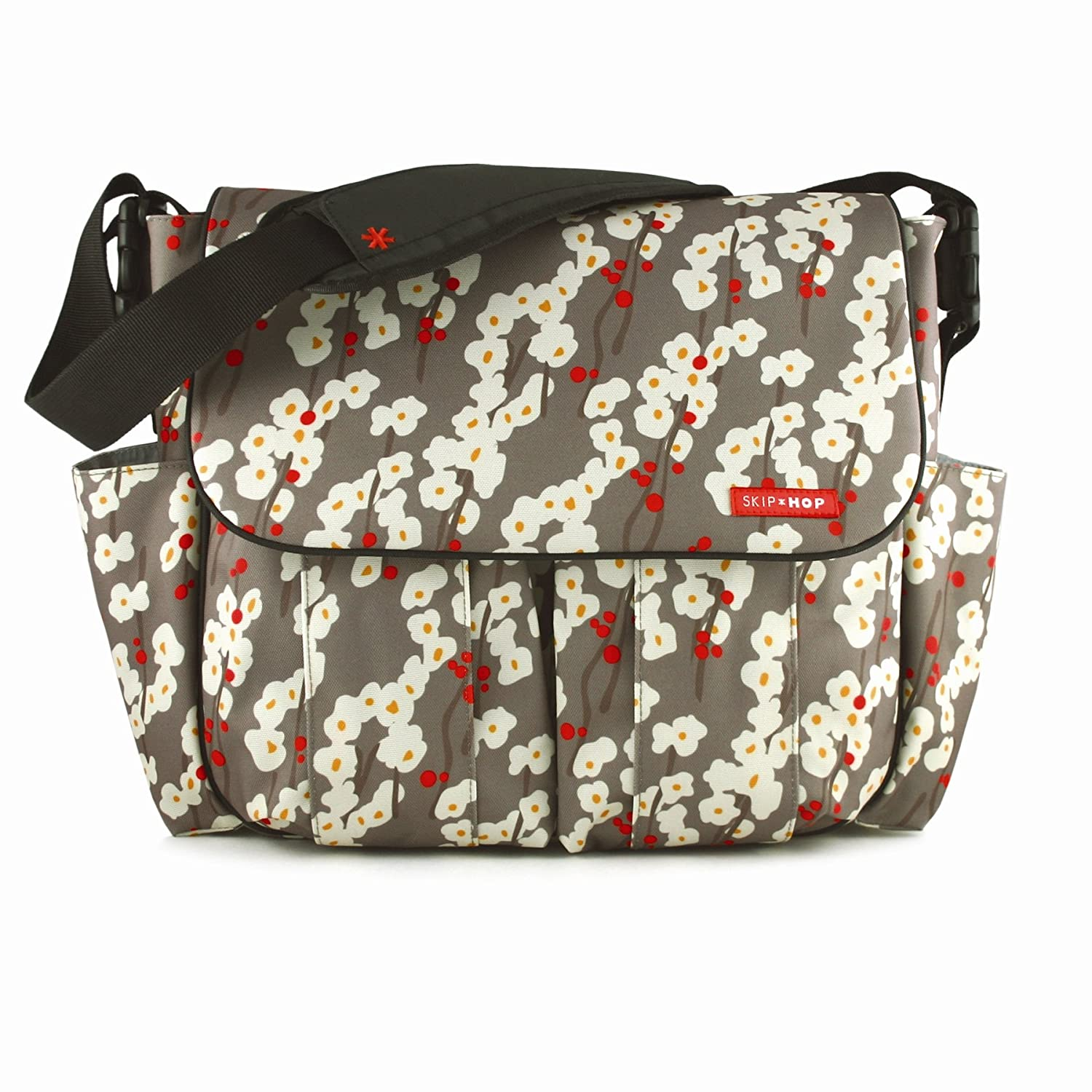 skip hop dash deluxe designer diaper changing messenger baby bag cherry blossom ebay. Black Bedroom Furniture Sets. Home Design Ideas