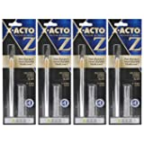 4-Pack - X-ACTO #1 Knife, Z Series with Safety Cap (Color: Silver with Gold, Tamaño: 4 Pack)