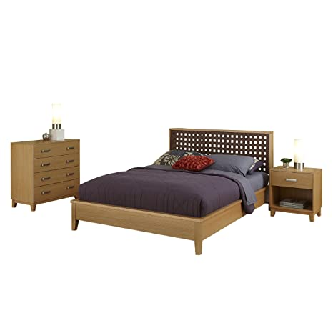 Home Styles 5517-5020 The Rave Queen Bed, Night Stand and Chest Set