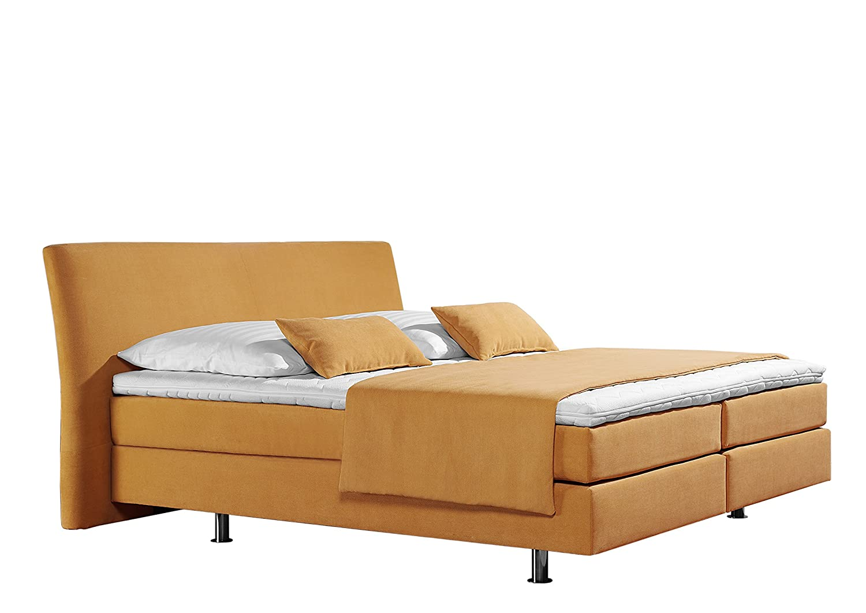 Maintal Betten 237377-4170 Box springbett Club 180 x 200 cm, Strukturstoff gelb