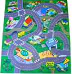"Silli Me ""Happy"" Town Felt Play Mat with Train Track and Roads"