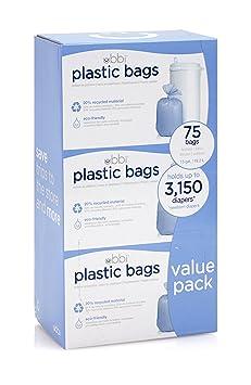 Amazon.com : Ubbi Plastic Bags, 3 Count : Baby